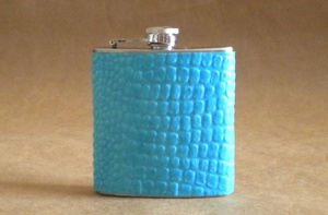 photo of Turquoise Crocodile Faux Leather Flask