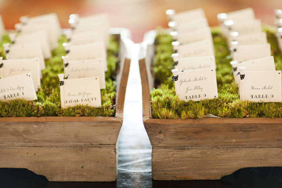creative wedding reception ideas escort cards 3