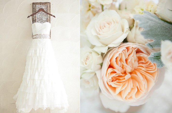 Romantic-pastel-wedding-white-wedding-dress-peach-flowers.full