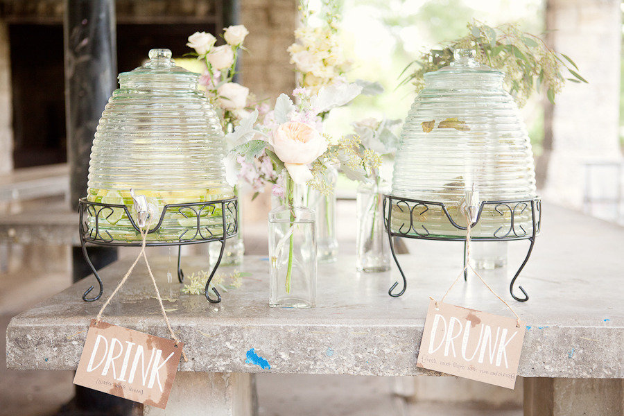 wedding themes outdoor wedding pastels spring summer reception drinks