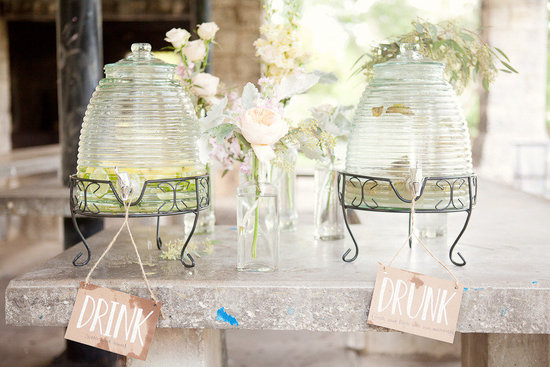 romantic wedding themes outdoor wedding pastels spring summer reception drinks