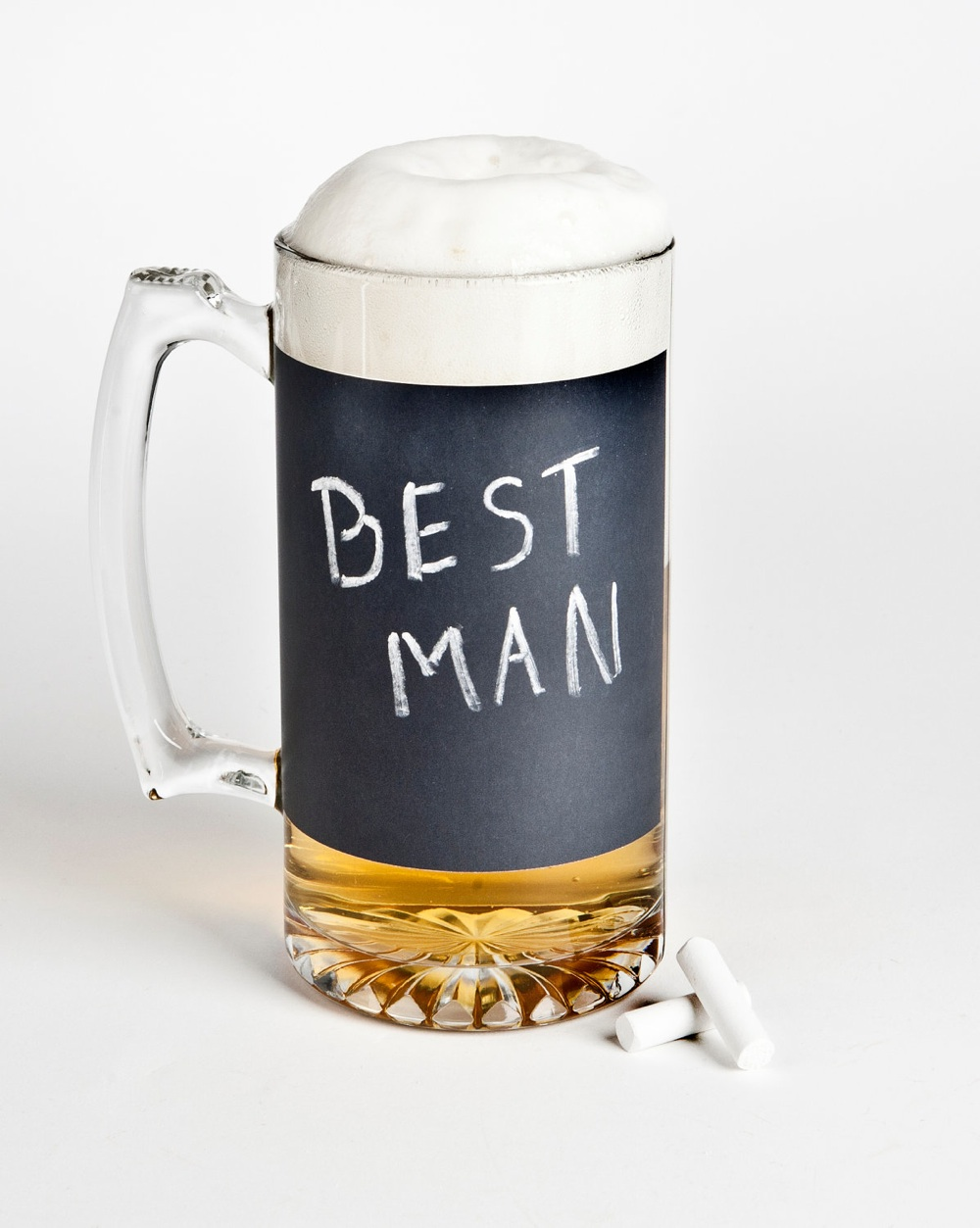 Wedding Gift Beer Mugs : best man wedding gifts beer mug chalkboard OneWed.com