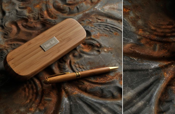 bamboo pen engraved for groomsmen wedding gifts