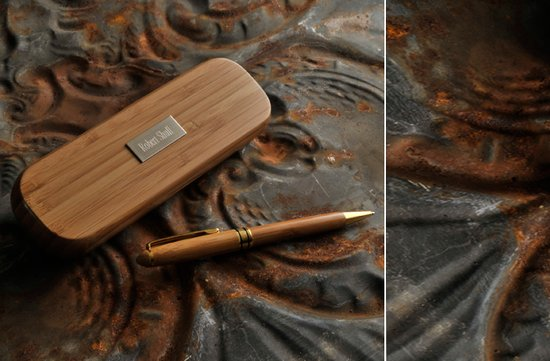 photo of Personalized Bamboo Pen Set for groomsmen