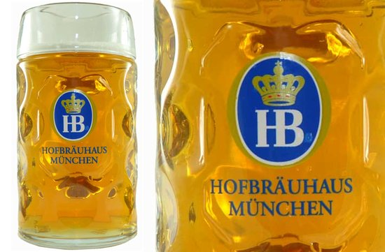 photo of HB Hofbrauhaus Munchen Glass Mug for groomsmen