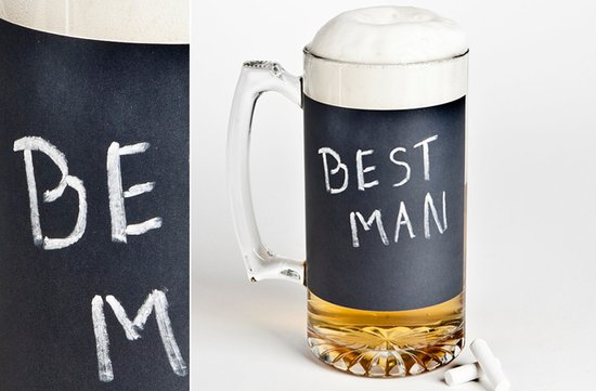 photo of Chalkboard Beer Mug for groomsmen