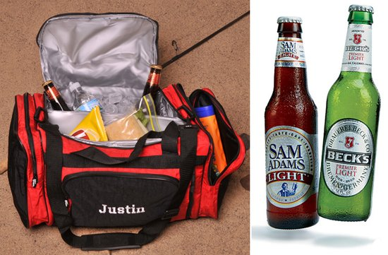 photo of Personalized 2-in-1 Cooler Duffle Bag for groomsmen