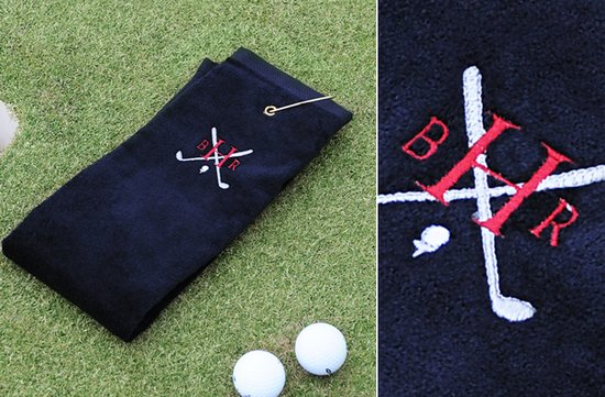 photo of Monogrammed Golf Towel for groomsmen