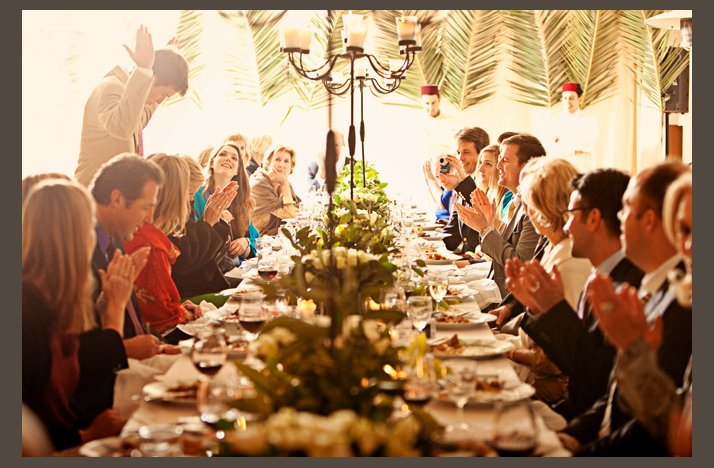 desert wedding offbeat wedding style casual reception tablescape toasts