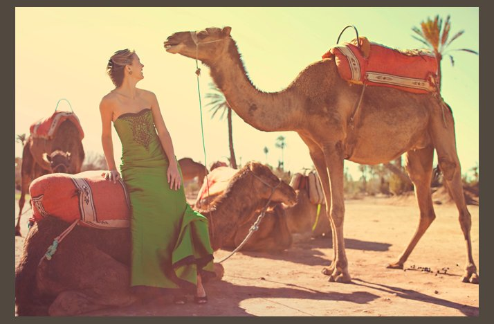 desert wedding offbeat wedding style casual bride with camel