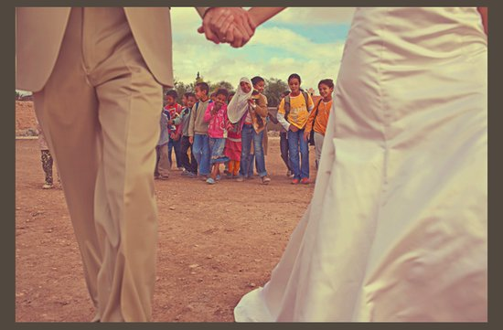 desert wedding offbeat wedding style casual humanitarian bride groom