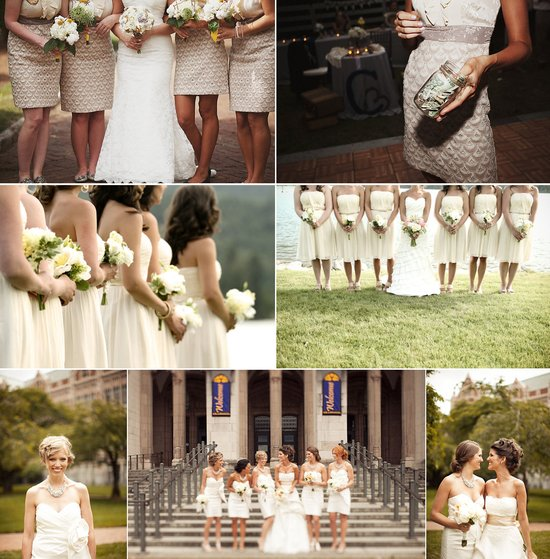 2012 wedding trends light hued bridesmaid dresses