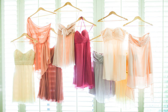 mix match bridesmaids dresses colorful
