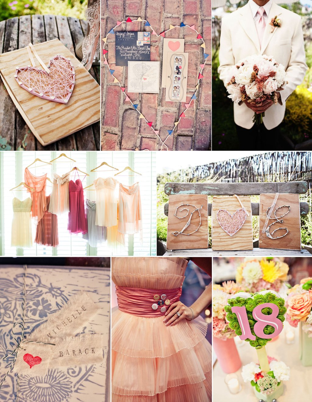 Ring In A Spicy Hot Palette Of Colors That Go With Orange: Soft Pink Wedding Color Palette Bridesmaids Dresses Mix