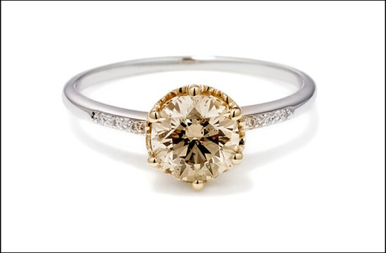 unique engagement rings most popular 2011 round