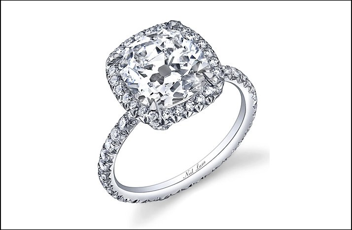 popular engagement rings 2011 neil lane cushion cut - Popular Wedding Rings