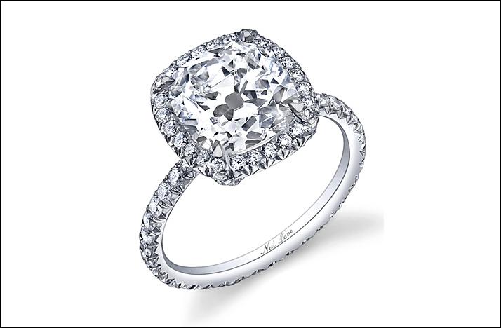 Popular Engagement Rings 2011 Neil Lane Cushion Cut