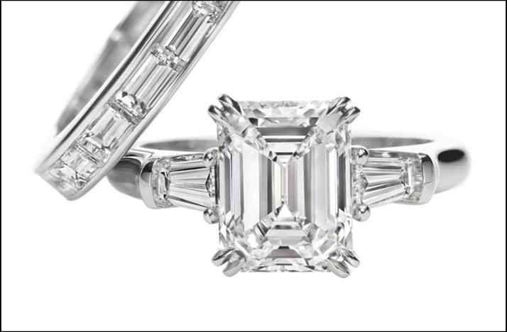 harry winston engagement ring emerald cut onewed