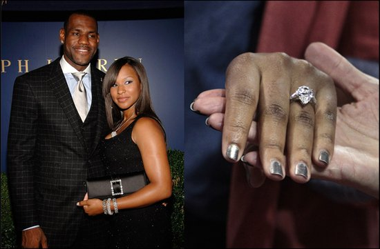 lebron james fiance engagement ring