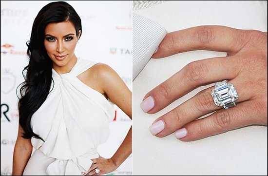 kim kardashian engagement ring celeb wedding jewelry