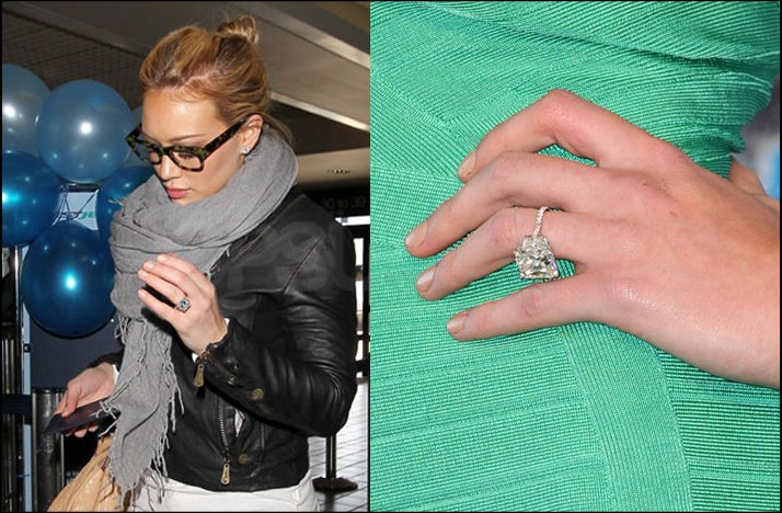 Attractive Hilary Duff Engagement Ring
