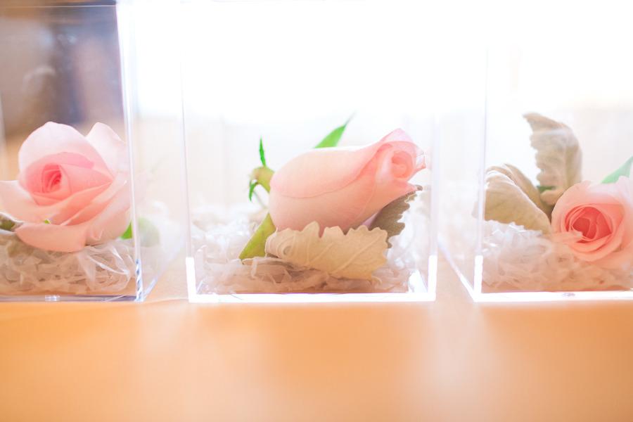 light pink wedding flowers romantic centerpieces | OneWed.com