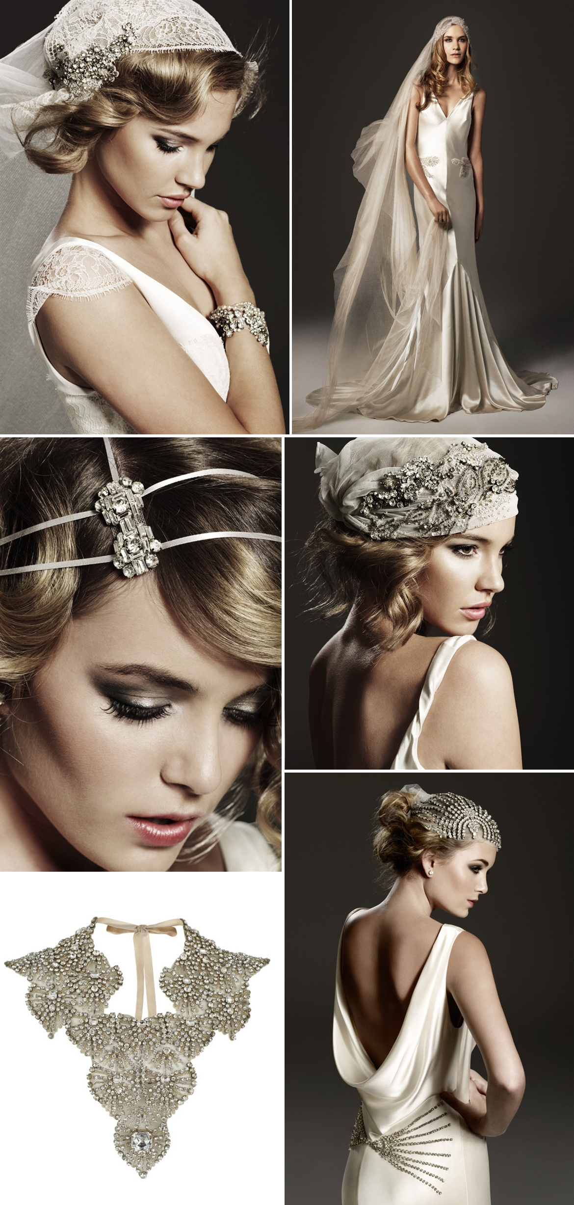 vintage inspired bridal hair accessories wedding jewelry | OneWed.com