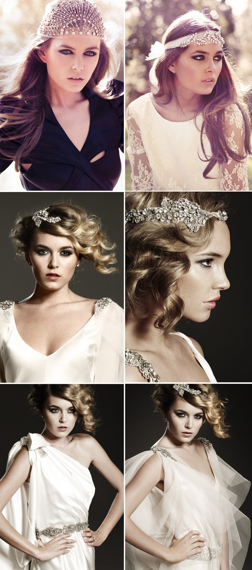 bridal hair accessories wedding caps veils tiaras 2012