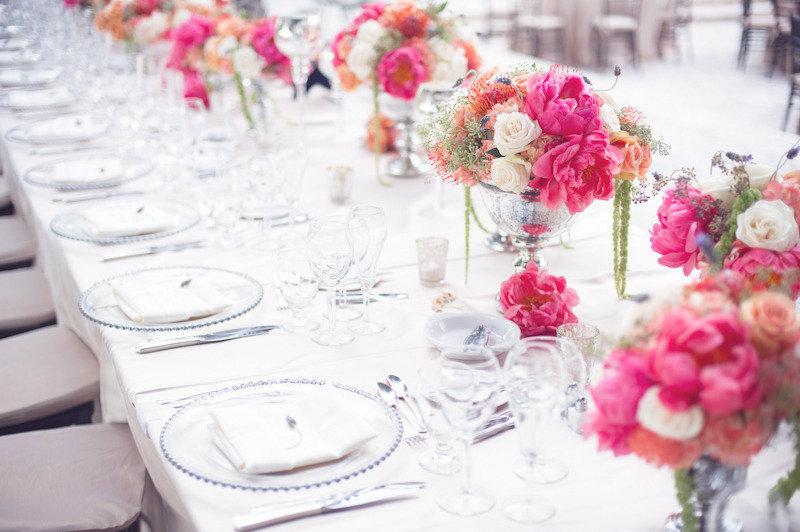 romantic pink wedding flower centerpieces garden romance