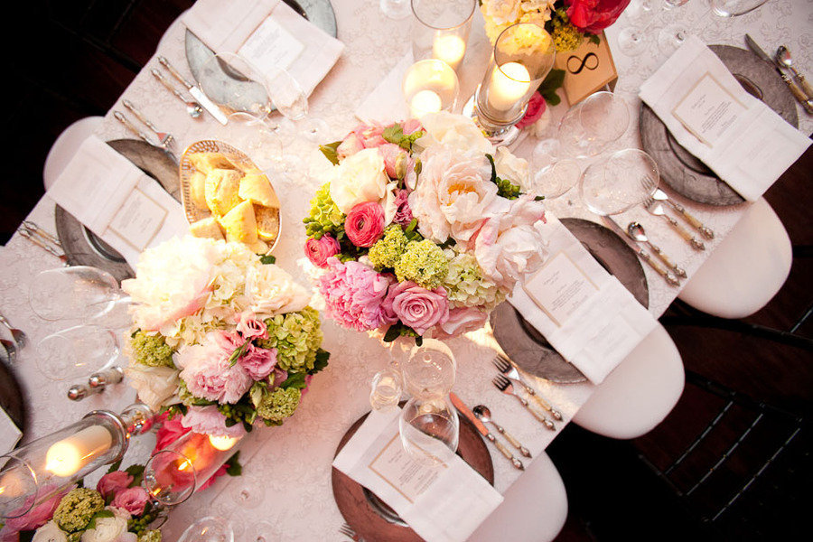 romantic wedding reception table centerpieces candles