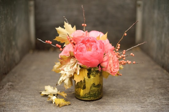 pink peony wedding flower centerpiece