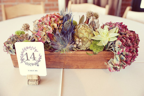 stunning wedding centerpiece warm rustic winery wedding