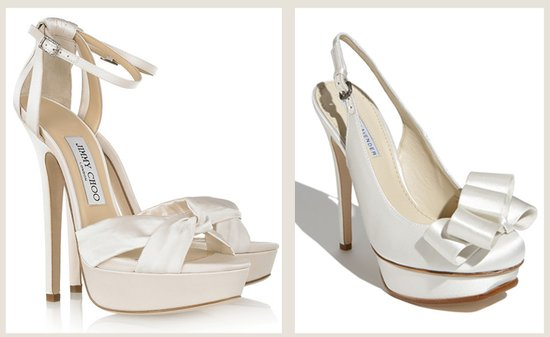 save splurge wedding shoes jimmy choo vera wang
