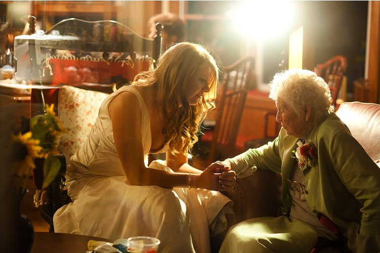 Unforgettable Real Wedding Photos- Special moment between bride and grandmother