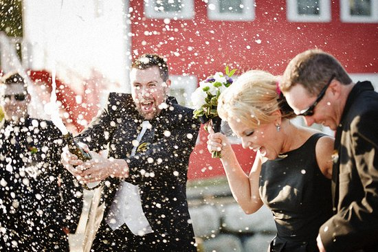 memorable wedding photos day of photography champagne sendoff