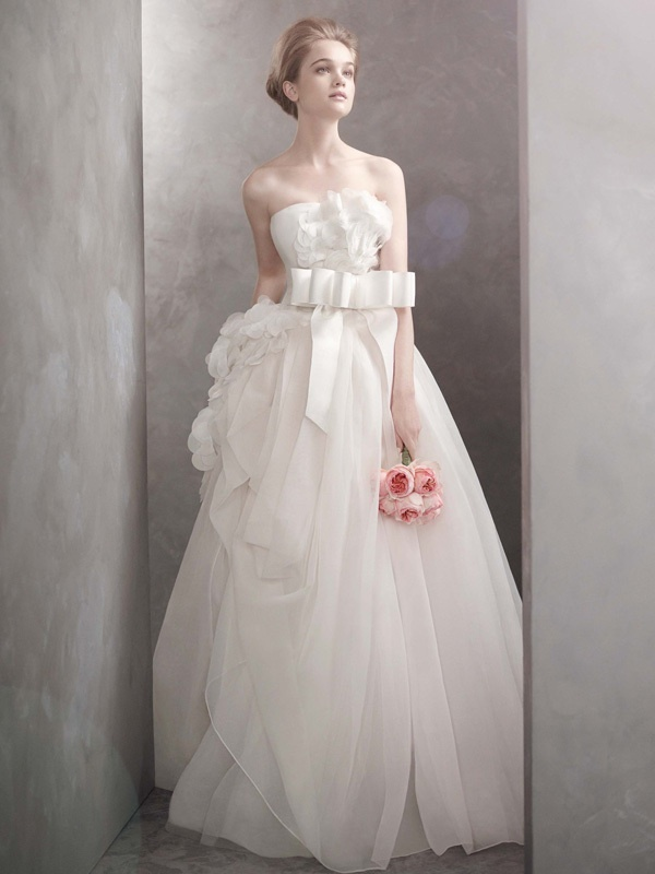 white by vera wang wedding dress 2012 bridal gowns vw351089