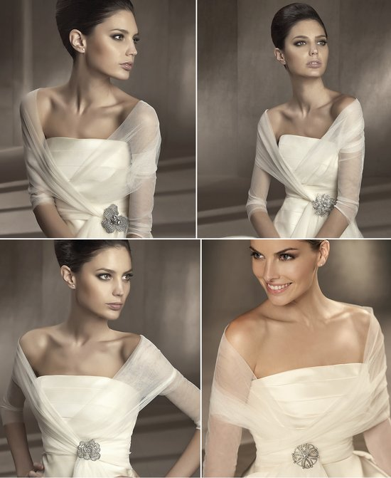 sheer bridal shawls 2012 wedding accessories pronovias