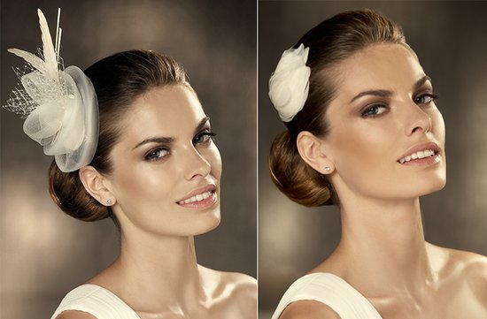 2012 wedding hair accessories bridal hairstyles pronovias 2