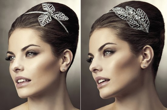 2012 wedding hair accessories bridal hairstyles pronovias leaf design