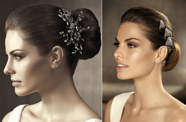 2012 wedding hair accessories bridal hairstyles pronovias nature vintage inspired