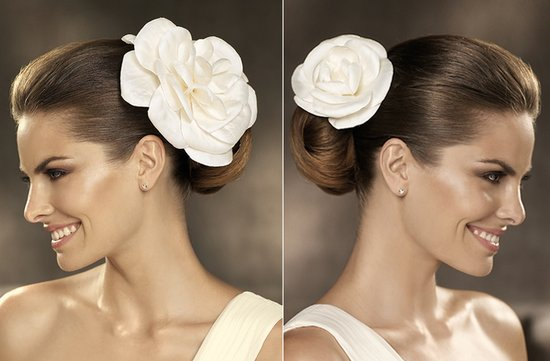 2012 wedding hair accessories bridal hairstyles pronovias 1