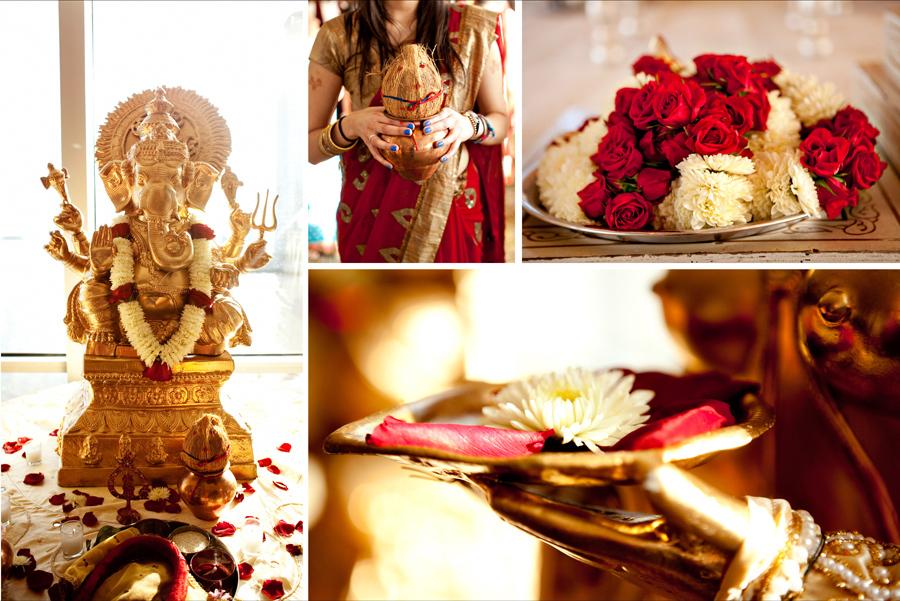 Multi-cultural-weddings-indian-bride-red-ivory-wedding-flowers.full
