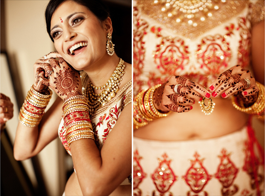 Multi-cultural-weddings-indian-bride-red-nails-gold-wedding-jewelry.full