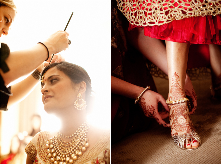 Multi-cultural-weddings-indian-bride-putting-bridal-heels-on.full