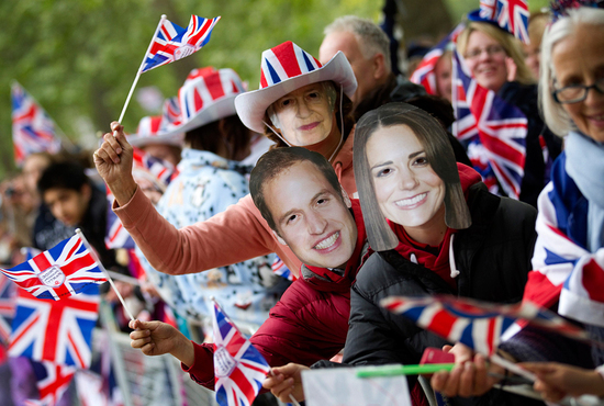 royal wedding up close kate william masks