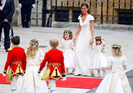 royal wedding up close pippa flower girls