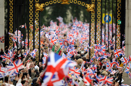 royal wedding up close british flags celebrate kate and william