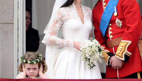 photo of royal wedding up close flower girl steals the show
