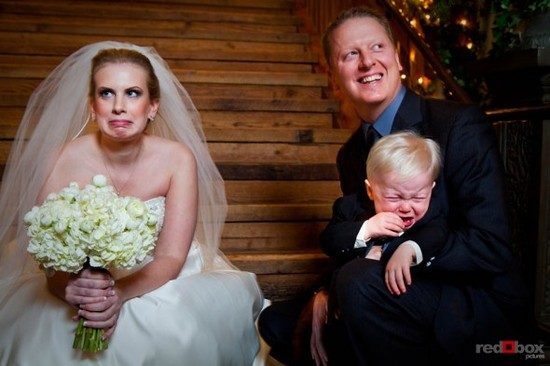 wedding faux pas kids ring bearer cries