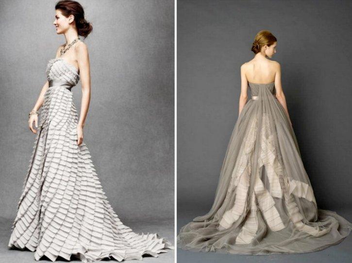 grey silver wedding dresses bhldn 2012 trends